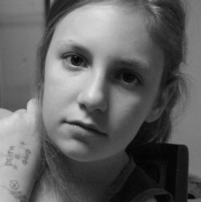 """Lena Dunham shared this pre-teen picture with the caption: """"My beloved tweenhood babysitter Maghan Brown just sent me ..."""