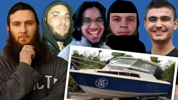 The five men who were allegedly intending to head to Indonesia in a small boat. From left Musa Cerantonio, Paul Dacre, ...