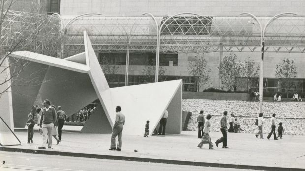 Ron Robertson-Swann's <i>Vault</i> in its original City Square home.