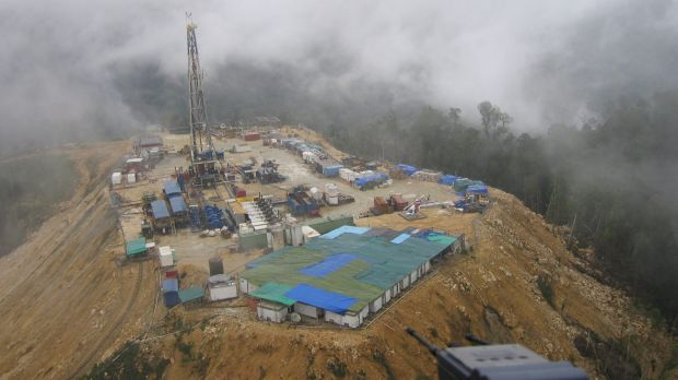 A rich and difficult Oil Search gas platform in the PNG Southern Highlands.