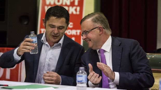 Greens candidate Jim Casey and Labor MP Anthony Albanese went head to head at a forum on WestConnex held in Balmain on ...