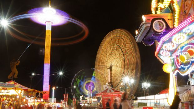 All the fun of the fair: Sideshow Alley at the Royal Sydney Easter Show, 2011.