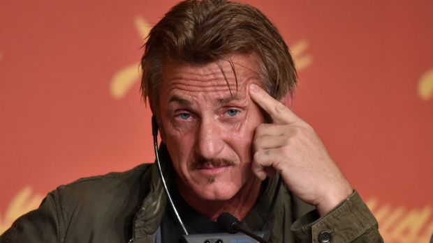 Director Sean Penn at a press conference for <i>The Last Face</i> at the 69th annual Cannes Film Festival.