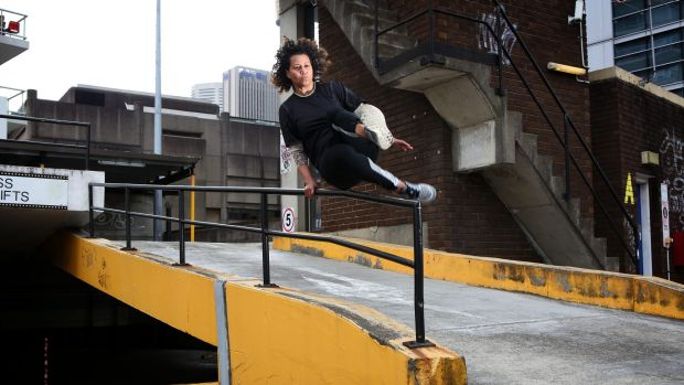 Karen Palmer says parkour taught her how to overcome fear.