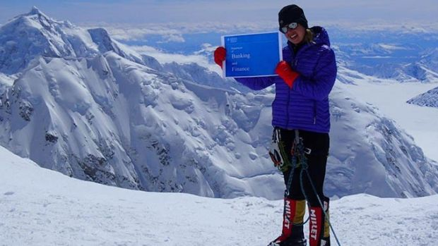 Dr Maria Strydom on a recent climb of Denali in Alaska, the highest peak in North America