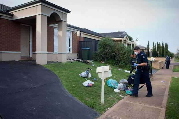 MELBOURNE, AUSTRALIA - MAY 22:  The house on Drysdale Crescent in Point Cook where hundreds of youths gatecrashed a ...