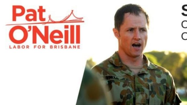 Labor Brisbane candidate Pat O'Neill's controversial election ad.