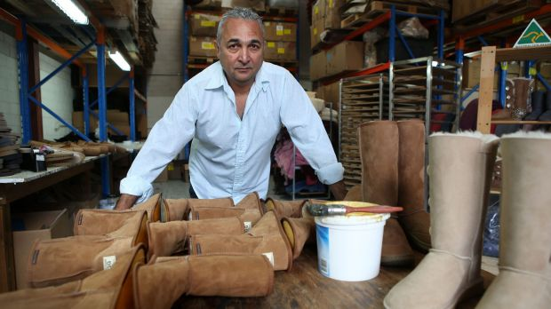 Not scared of a fight: Eddie Oygur of Australian Leather is fighting to use the word 'ugg.'