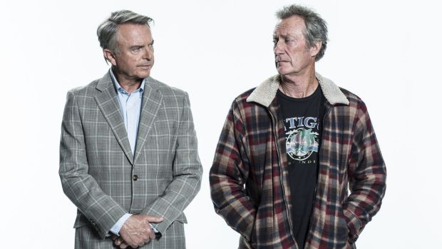 Sam Neill, left, and Bryan Brown in <i>Old School</i>.