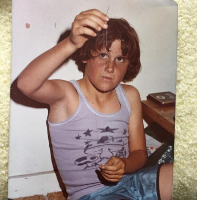 Host of <i>The Morning Show</i> Larry Emdur shared this vintage snap with the caption, &quot;I learnt how to sew when I was a ...