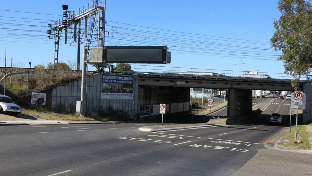 The rail bridge over Parramatta Road at Granville, another bridge for which no load rating is recorded.