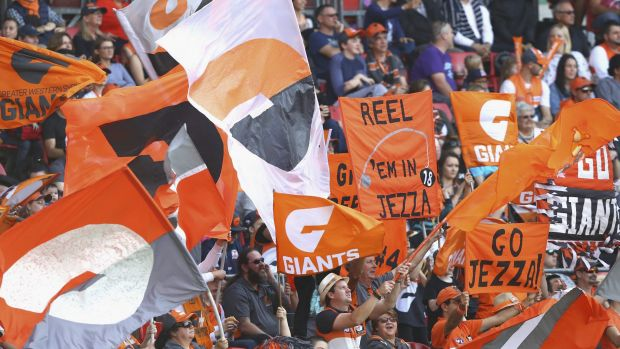 Loyalty: The Giants don't have a lot of fans compared with other AFL teams but they are building their membership base.