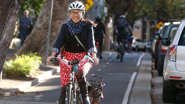 Maroubra resident Yvonne Poon cycles to work in Moore Park five days a week.