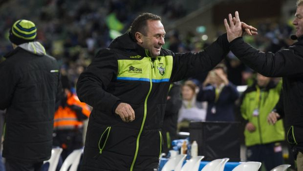 Has Raiders coach Ricky Stuart's move to the coaching box had an effect?