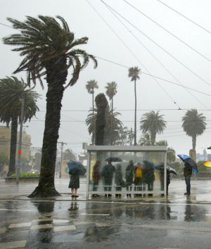 The wild weather that had been forecast for Victoria this weekend.
