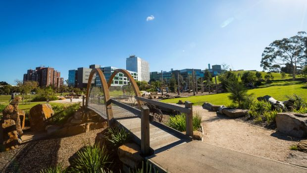 Royal Park Nature Play playground has been named the best in Australia by landscape architects.