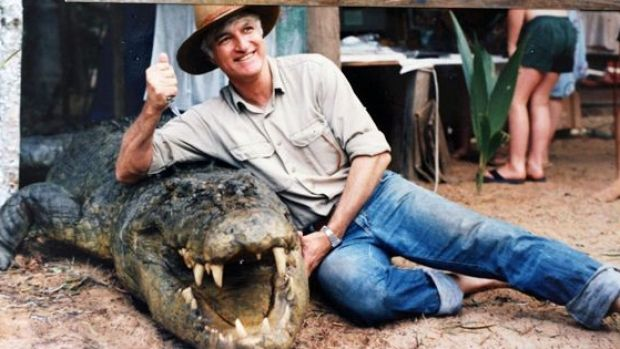 An old photo of Bob Katter in far north Queensland. The MP recently said he wanted to focus on the issue of crocodile ...