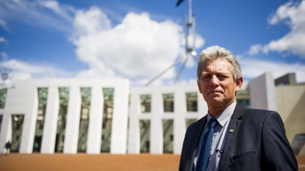 Norfolk Island regional councillor Lisle Snell during a lobbying visit to Canberra in 2014.