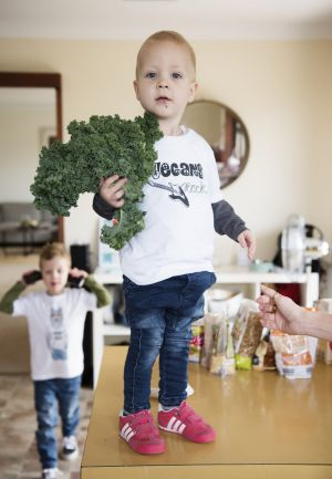 Two-year-old Noah has only ever known a vegan diet.