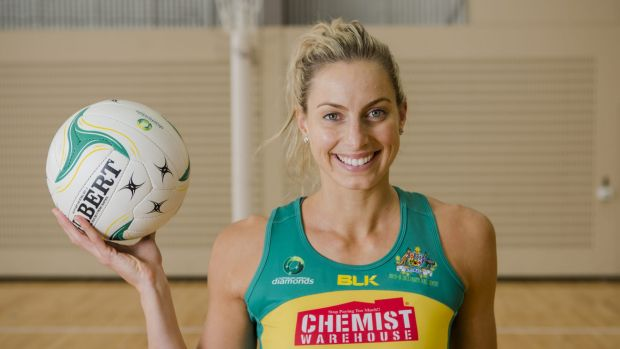 On the comeback trail: Former Diamonds captain Laura Geitz gave birth to her first child in February.