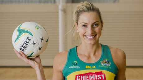 Former Diamonds captain Laura Geitz gave birth to her first child in February.