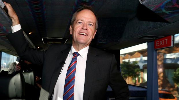 Opposition Leader Bill Shorten on the campaign trail on Friday.