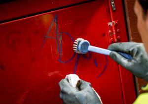 Ben Ivory is one of seven full-time graffiti removal contractors whose work prevents the walls of the city being lost, ...