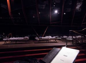 The Opera House's northern foyer awaits its singular night of entertainment for Max Richter's eight-hour composition ...