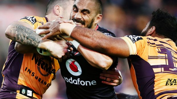 Hard man to stop: Thomas Leuluai.