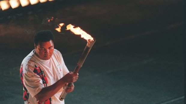 Enduring: The image of Ali lighting the Olympic flame in Atlanta 1996 is one of the most iconic images in sporting history.