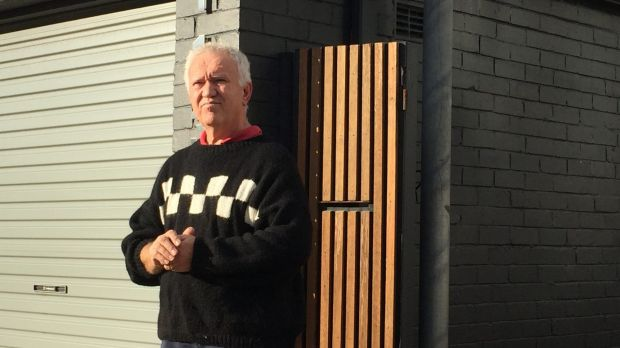 Tony Cagorski said he lost another two to three metres off his Collaroy property in Monday night's king tide.