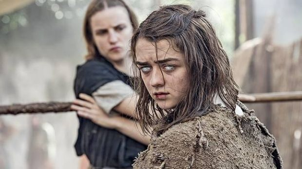 Arya Stark and the Waif from <i>Game of Thrones</i> season six.