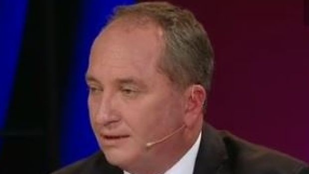 Deputy PM Barnaby Joyce on Monday night's program.