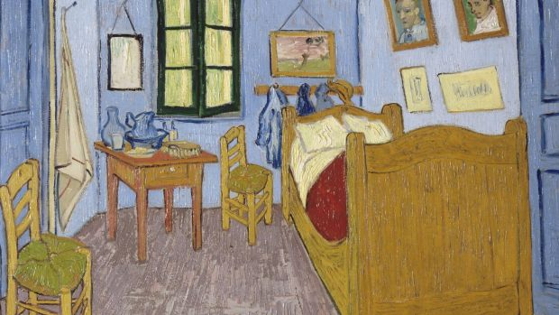 Vincent Van Gogh's 1888 painting Bedroom in Arles epitomises the spartan artist's garret.