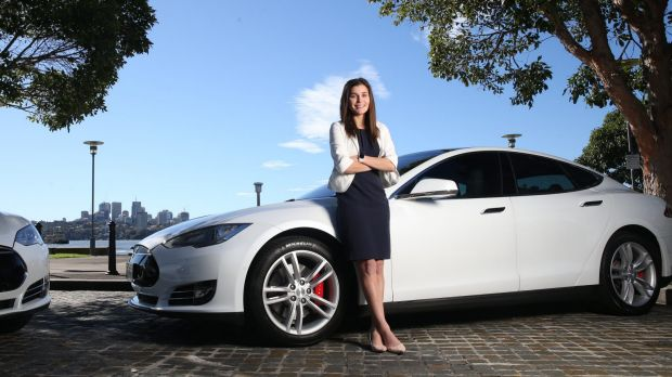 Pia Peterson's company has four electric cars.