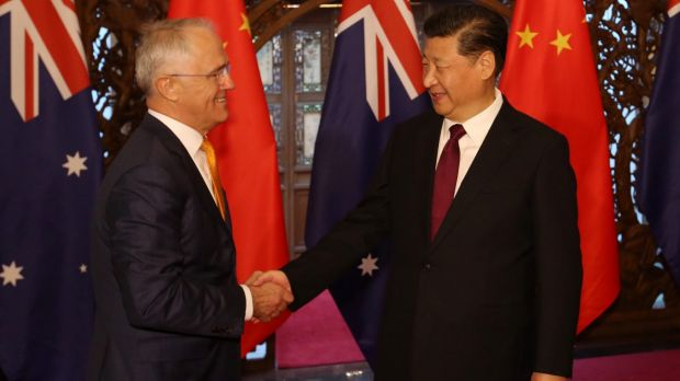 Prime Minister Malcolm Turnbull met with Chinese President Xi Jinping at the Diaoyutai State Guesthouse in Beijing in April.