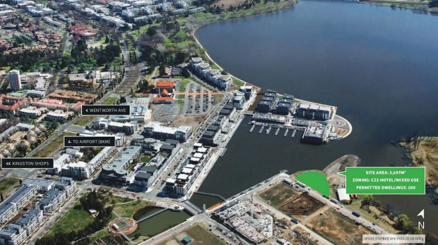The $21 million site on Kingston Foreshore's Peninsula where a Territory Plan variation will allow up to six storeys of ...