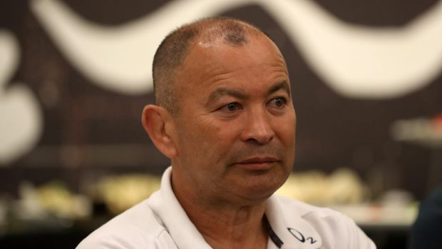 Not impressed: Eddie Jones has labelled a question from former Wallaby and Fox Sports pundit Stephen Hoiles at the ...