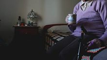 SUN HERALD  Gwenda Waddington, 86, a resident at this aged care home, Roberts Lodge,  Peakhurst he story is about the ...