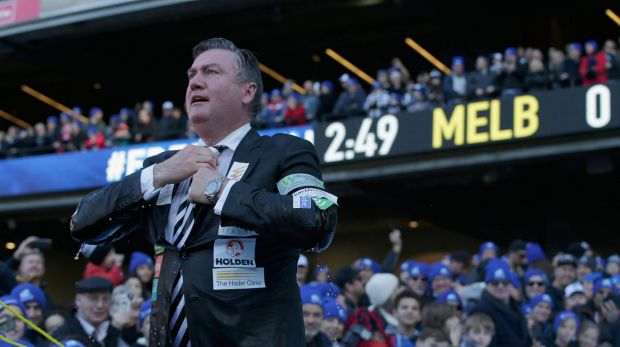 Collingwood president Eddie McGuire at the 'Big Freeze 2' charity event last year. He came under fire for saying he ...