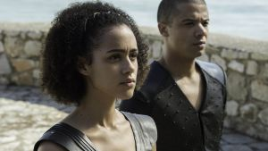 Missandei working those curls.