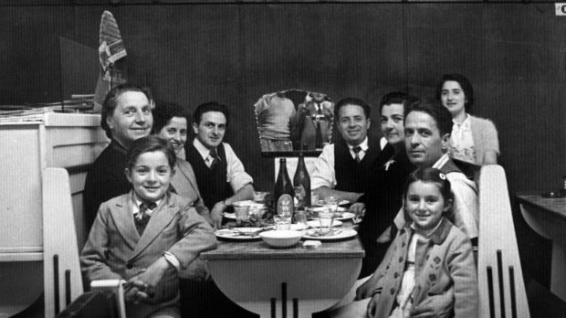 A 1952 gathering of family and friends in the Popular Cafe, Cootamundra, NSW.