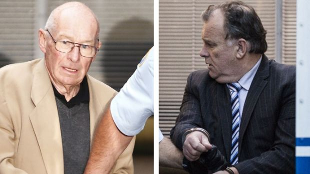"Roger Rogerson (left) and Glen McNamara during their trial for the murder of Jamie Gao during an ""inept"" drug rip-off."