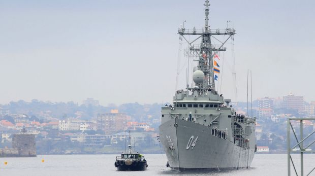 A sailor serving aboard HMAS Darwin has died on shore leave in the Middle East.