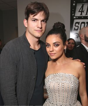 Kutcher took wife Mila Kunis out for a Valentine's Day dinner before the hearing.