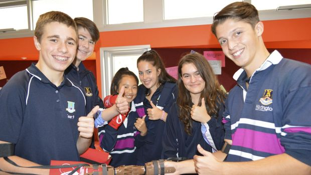 Year 9 challenge students built prosthetic arms that will be distributed to landmine victims by the Australian ...
