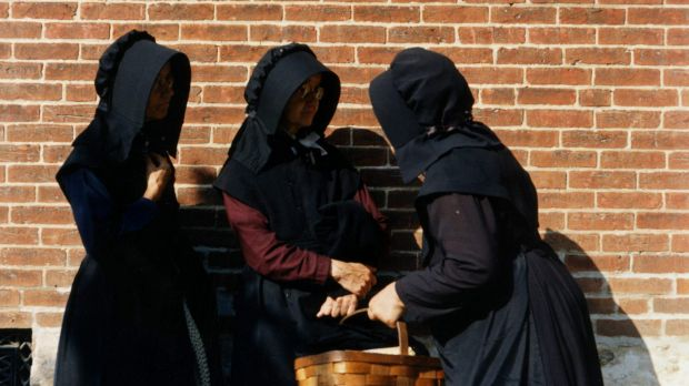 Married women among the Amish wear bonnets, full-length dresses and aprons. The Amish have maintained a conservative ...