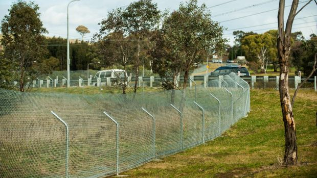 Kangaroo fencing is being installed along the Tuggeranong Parkway.