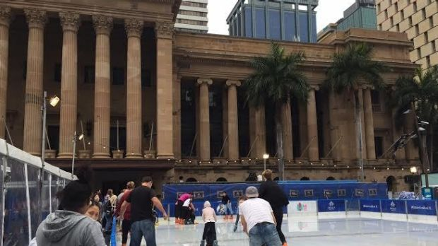 Showers failed to dampen spirits at Winterland in King George Square.