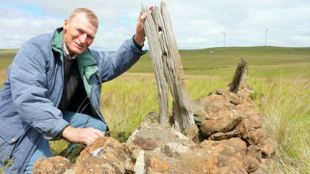 Barry McGowan at one of the Monaro's mystery stone walls